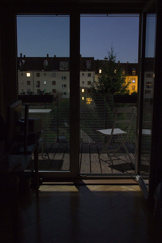Mondlicht auf dem Balkon